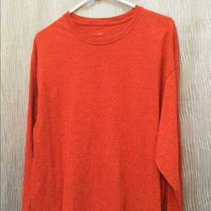 Hanes X-temp large long sleeve. Burnt orange 🍊